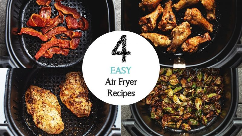 4 EASY Air Fryer Recipes for beginners!
